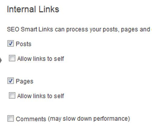 Internal Links – внутренние ссылки. Настройка плагина SEO Smart Links.