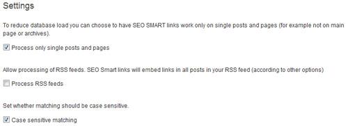 Settings. Настройка плагина SEO Smart Links.