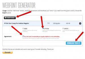 font-face-generator