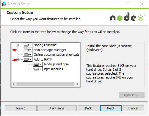 Установка Node.js для Gulp