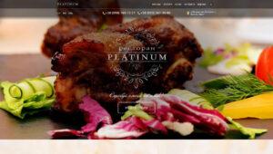 Сайт ресторана «Platinum» (Винница)